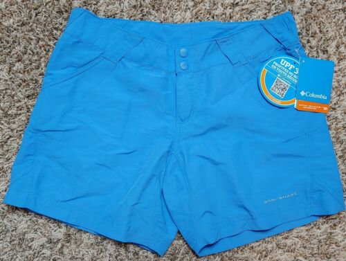 NWT COLUMBIA Women/'s Blue OMNI-SHADE River Swim Performance Fishing Shorts sz M