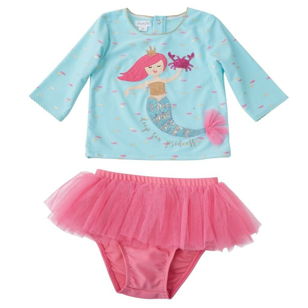 Mud Pie E8 Baby Toddler Girl Floral Flamingo Rash Guard Swim Set 1122140 Choose