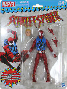 Marvel-Legends-Vintage-Series-SCARLET-SPIDER-ACTION-FIGURE-Hasbro-Retro