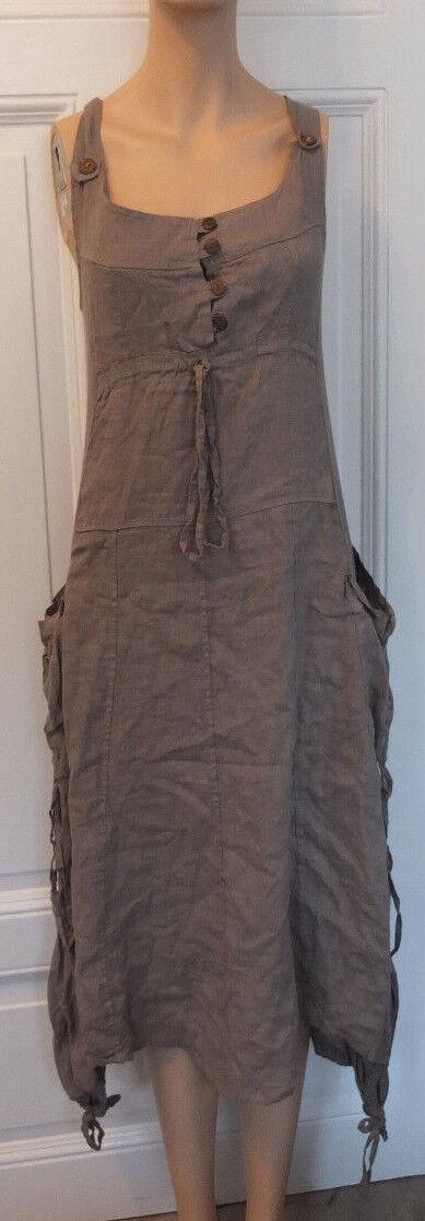 Bildschönes 100% Leinen Hängerchen Kleid Gr. XL 40 42 TOP