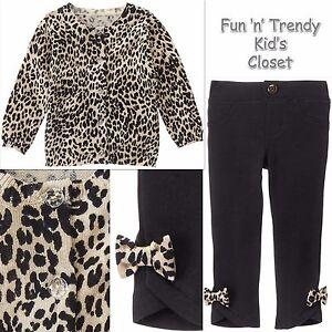 001e50285582 NWT Gymboree CATASTIC Girls Sz 4T 5T Leopard Print Cardigan ...