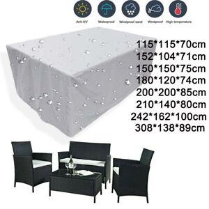 COPERTURA di mobili da giardino rattan tavolo Cubo Outdoor Heavy Duty Impermeabile Patio UK