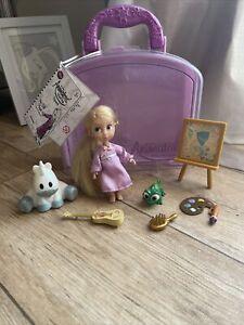 "- Disney Store Rapunzel Animator Collection - 5"" MINI BAMBOLA Play Set-Completo"