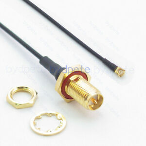 6 inch 15cm RG178 SMA Female Long to IPX U.FL Female Pigtail Jumper RF coaxial cable 50 ohm Quick USA Shipping