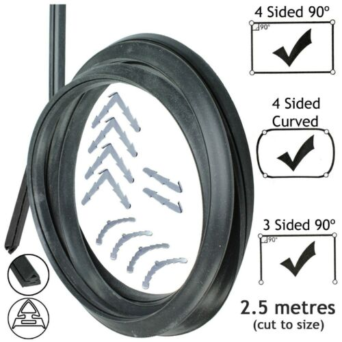 2.5m Door Seal for Electrolux 3 or 4 Sided Oven Cooker Rounded or 90º Clips