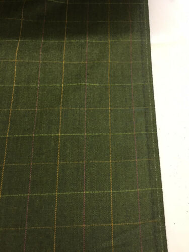 Marca Verde Panel de Ventana /& Espiga 100/% Lana Traje//jacketing Tela 320g