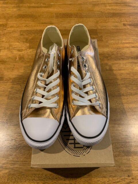 35dc4bf6b1f9 Converse ChuckTaylor All Star Ox Unisex Shoes Metallic Sunset Glow white  154037f 11