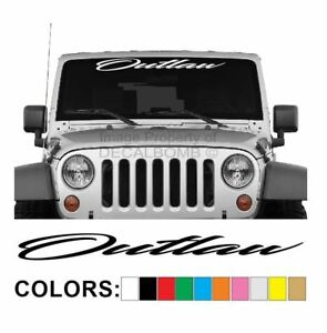 Outlaw-Script-Windshield-Decal-Sticker-Turbo-Truck-Lift-Mud-Car-Diesel-Low-Pro