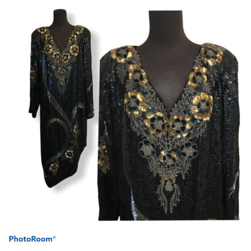 Heavily Sequin Beaded DRAMATIC Cocktail Party New