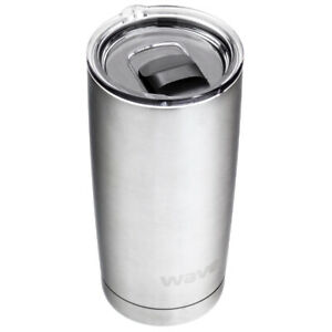 20-oz-Stainless-steel-Tumbler-travel-Mug-Double-wall-Insulated-Coffee-Cup-Silver