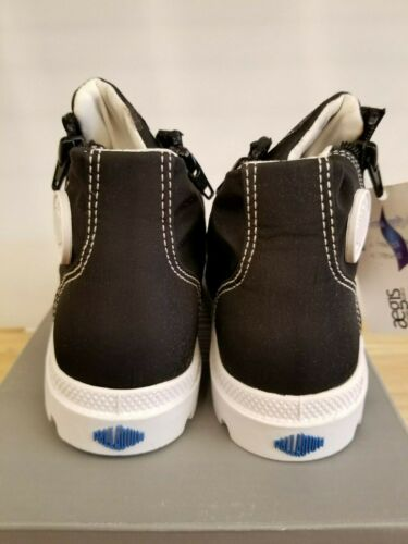 Details about  /NEW IN THE BOX PALLADIUM PAMPA PUDDLE ZIP WATERPROOF BLACK//WHITE  BOOTS FOR KIDS