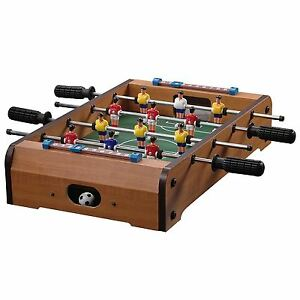 Wooden Mini Foosball Table Top Football Soccer Game Set Kids Family Desktop Toy