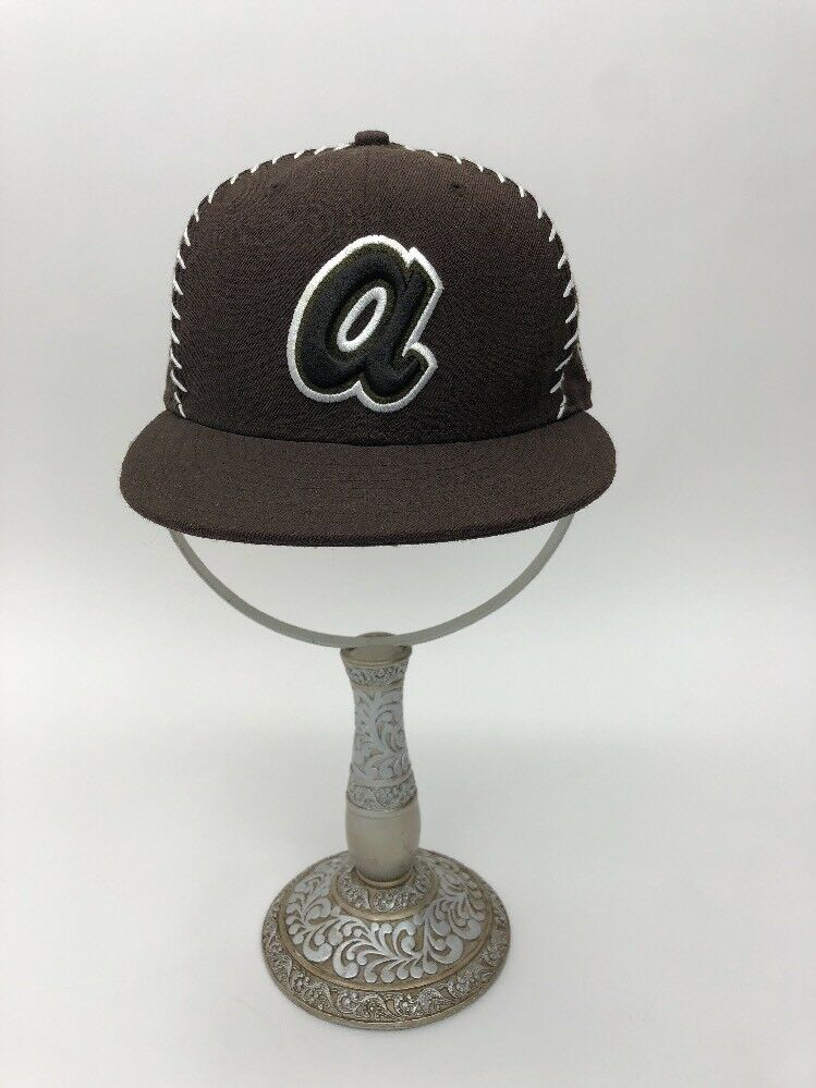 ae0e5a38972 ... reduced get new era 59fifty atlanta cap braves brown white cap atlanta  mlb baseball fitted hat