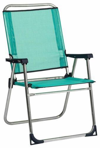 Silla plegable para Playa Piscina camping acampada aluminio 2 AÑOS DE GARANTIA