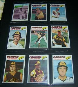 1977-TOPPS-SAN-DIEGO-PADRES-TEAM-SET-27-CARDS-EX-NM-WINFIELD-FINGERS-JONES