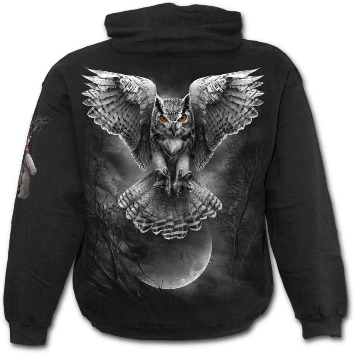 Spiral Direct WINGS OF WISDOM Hoodie Owl/Night Hunter/Metal/Sweatshirt/Men/Girls