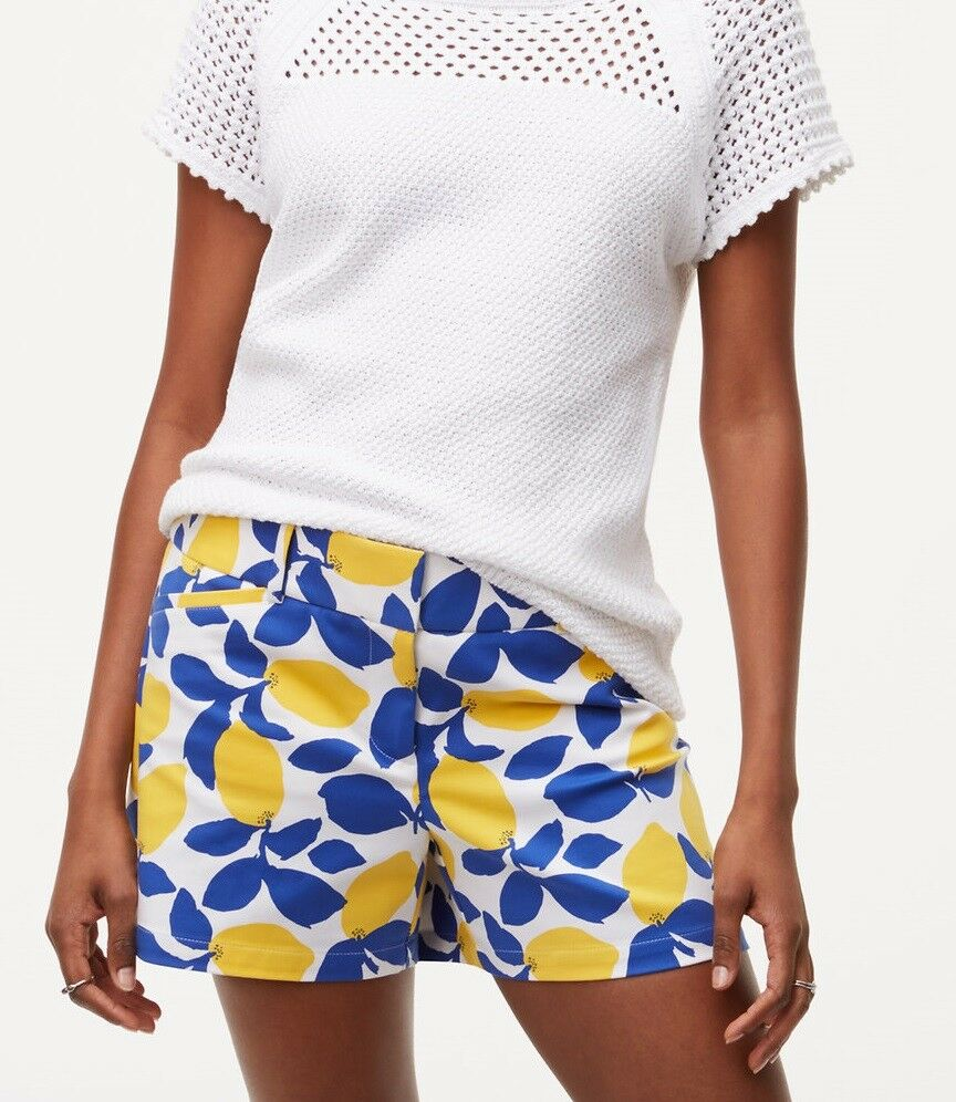 Ann Taylor LOFT Lemonade Riviera Shorts with 4  Inseam Size 00, 0, 2, 12 White