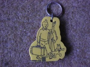Tintin-Hard-Foam-Keyring-Tintin-with-Suitcase-and-Snowy-Herge-TL-1993