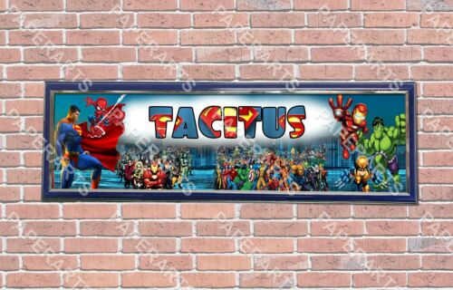 Personalized Customized Super Hero Name Banner Wall Decor Poster with Frame