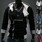 New Men's Slim Fit Fashion Long Sleeve Jacket Outwear Hooded Hoodies Casual Coat