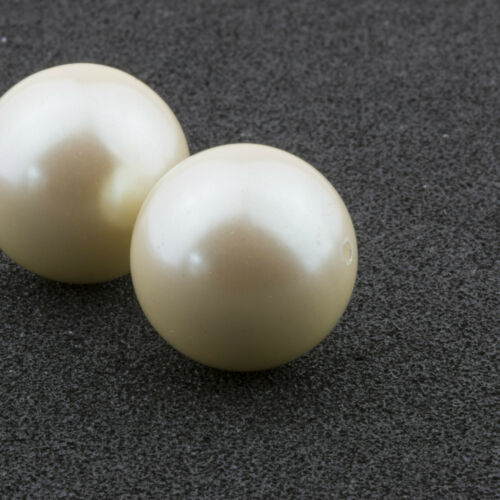 18mm Cultura Acrylic Round Faux Pearl Bead Vintage Japanese 4pcs 10310004