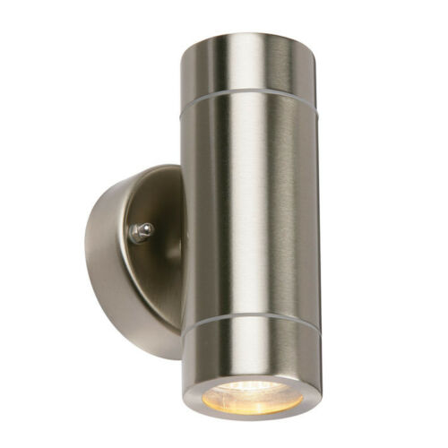 Saxby Palin 13802 Up And Down Stainless Steel Outdoor Garden Wall Light