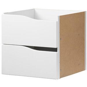 Ikea Regal Schubladen : ikea kallax einsatz mit 2 schubladen wei 33x33 f r expedit kallax regal neu ebay ~ Watch28wear.com Haus und Dekorationen