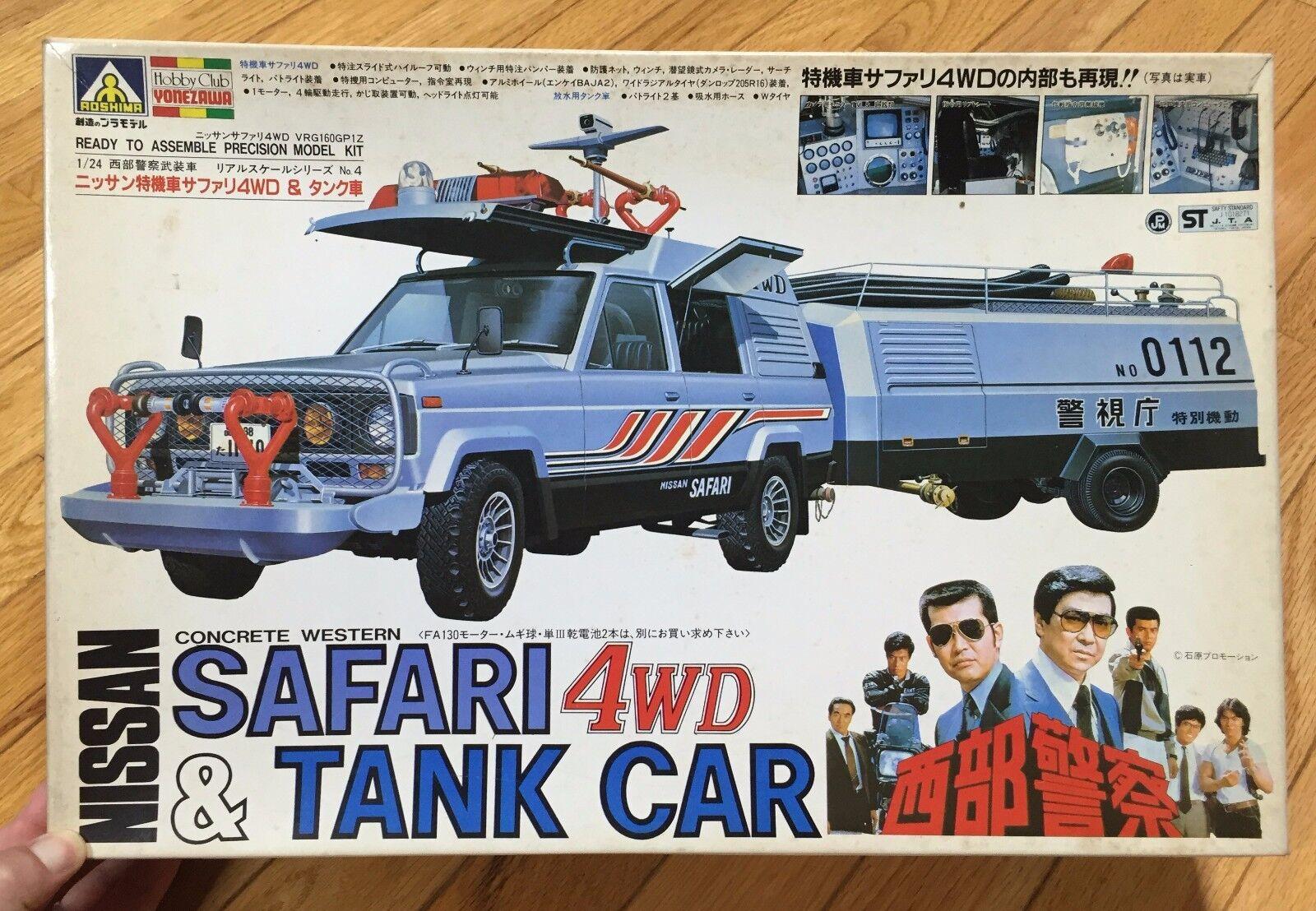 JAPANESE TV  Seibu Keisatsu Police Western Division NISSAN PATROL SAFARI & TANK
