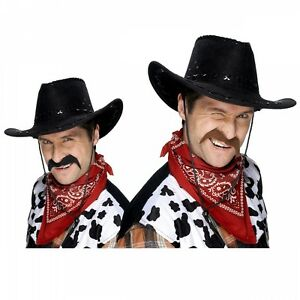 Image is loading Cowboy-Mustache-Fake-Funny-Adult-Halloween-Fancy-Dress 9fe5a491ab3