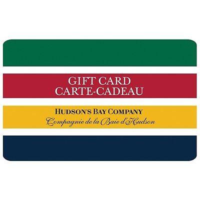 $100 Hudson's Bay Gift Card