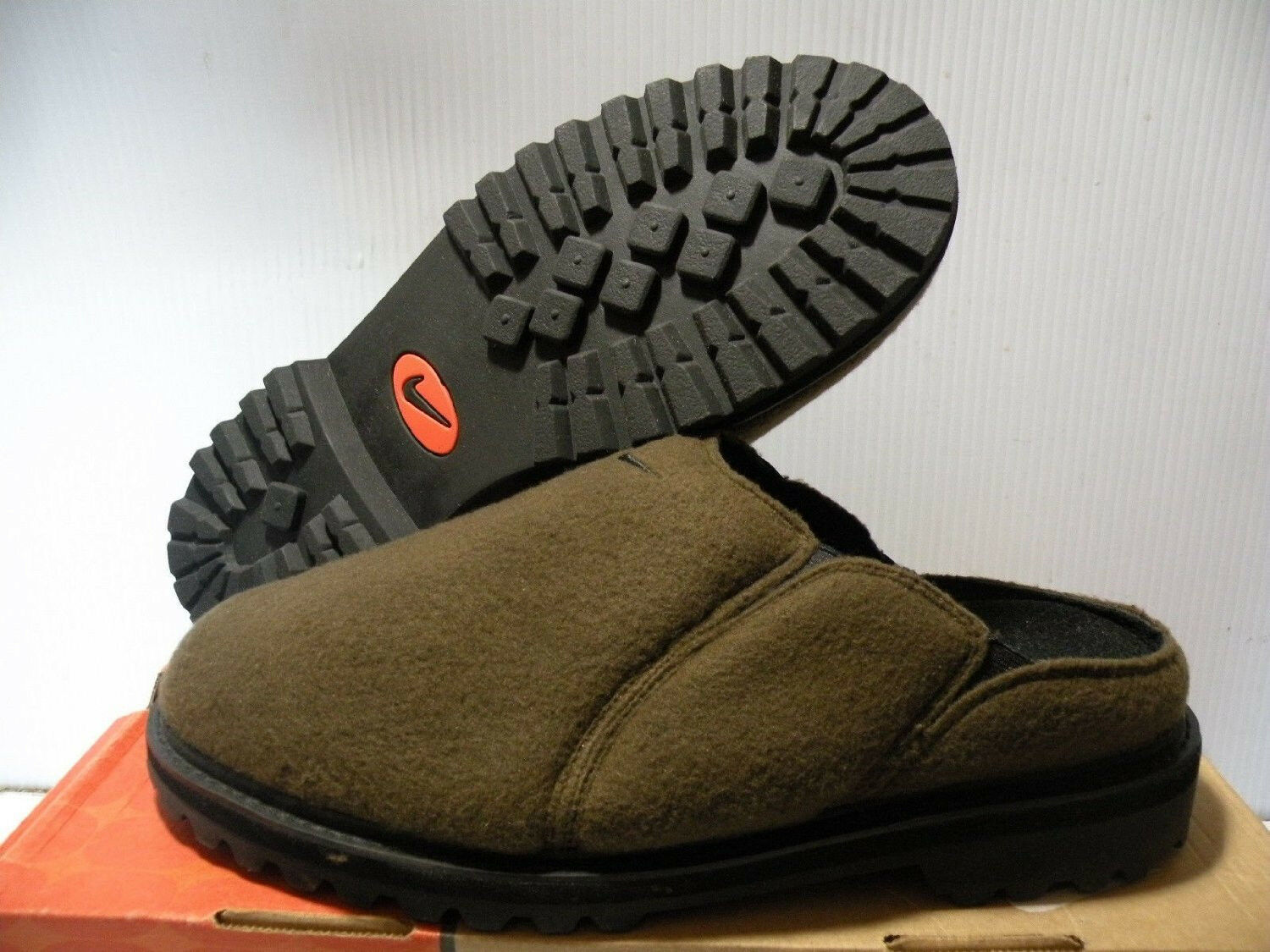 NIKE THE ADAPTER CLOG WOOL SLIPPERS MEN SHOES BROWN 142053-301 SIZE 6.5 NEW