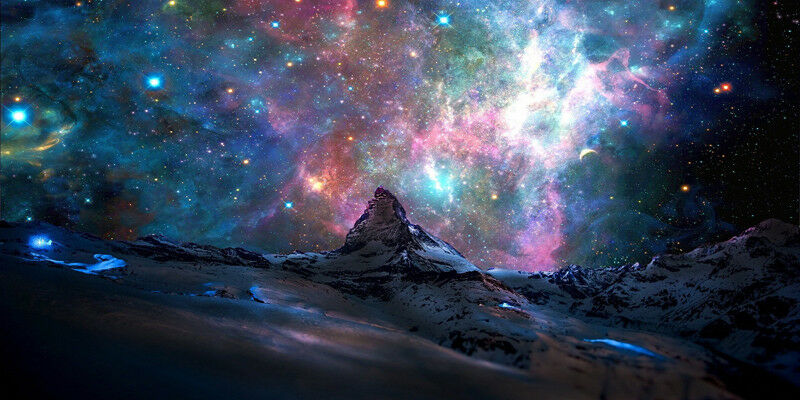 Outer Space Skies - CANVAS OR PRINT WALL ART