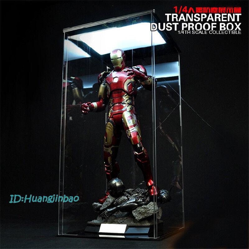 Acrylc Hall Of Armor Hangar 1 4 Transparent Dust Proof Box Display Case Toys-Box