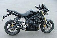 Street Triple 07-12 SP Engineering Carbon Fibre Stubby Moto GP 3-1 Exhaust