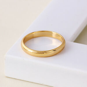 Details About 9ct 9k Yellow Gold Filled Men Girl Plain Wedding Band Ring All Sizes W 3mm 2112
