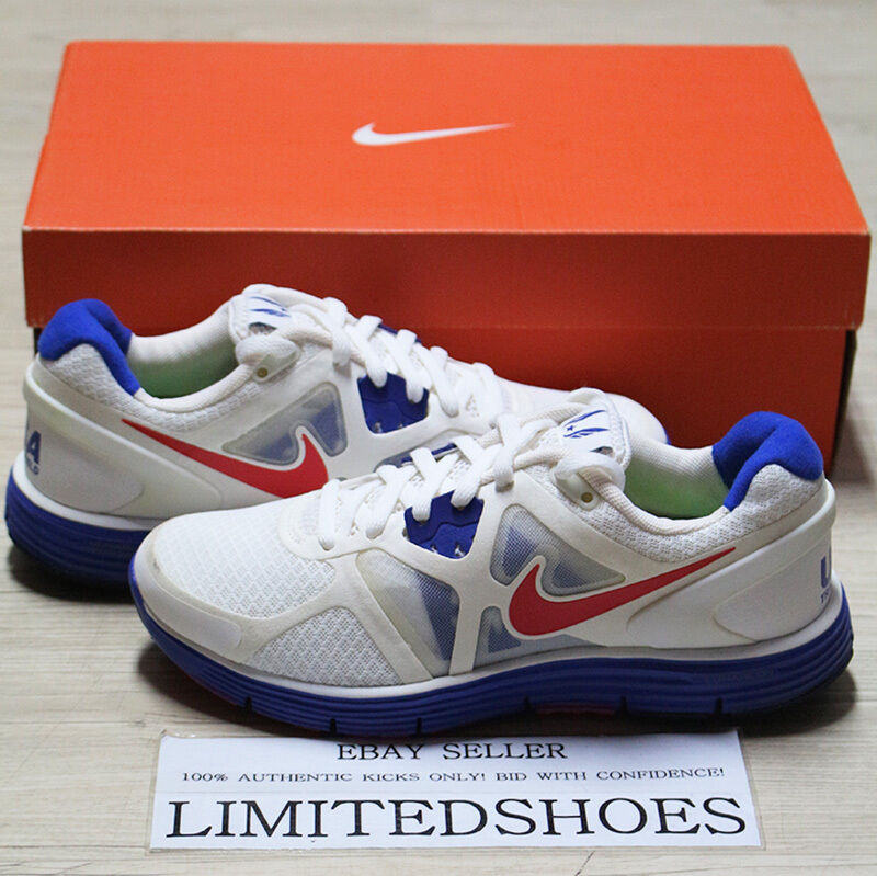 WMNS NIKE LUNARGLIDE+ 3 SUMMIT WHITE RED 454315-164 WOMENS USATF 6 7 8 olympic