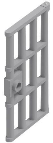 ☀️NEW LEGO X12 Light Bluish Gray Door Frame 1x4x6 W// Handle Prison Jail Bars