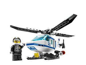 Lego City Police Helicopter Model 7741 100 Complete With