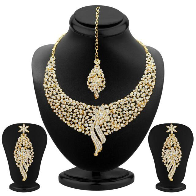Sukkhi - Kritika Kamra Sleek Gold plated AD Stone Party Wear Necklace Set