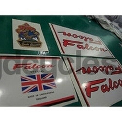 Falcon decal set for Lincolnshire-made frames