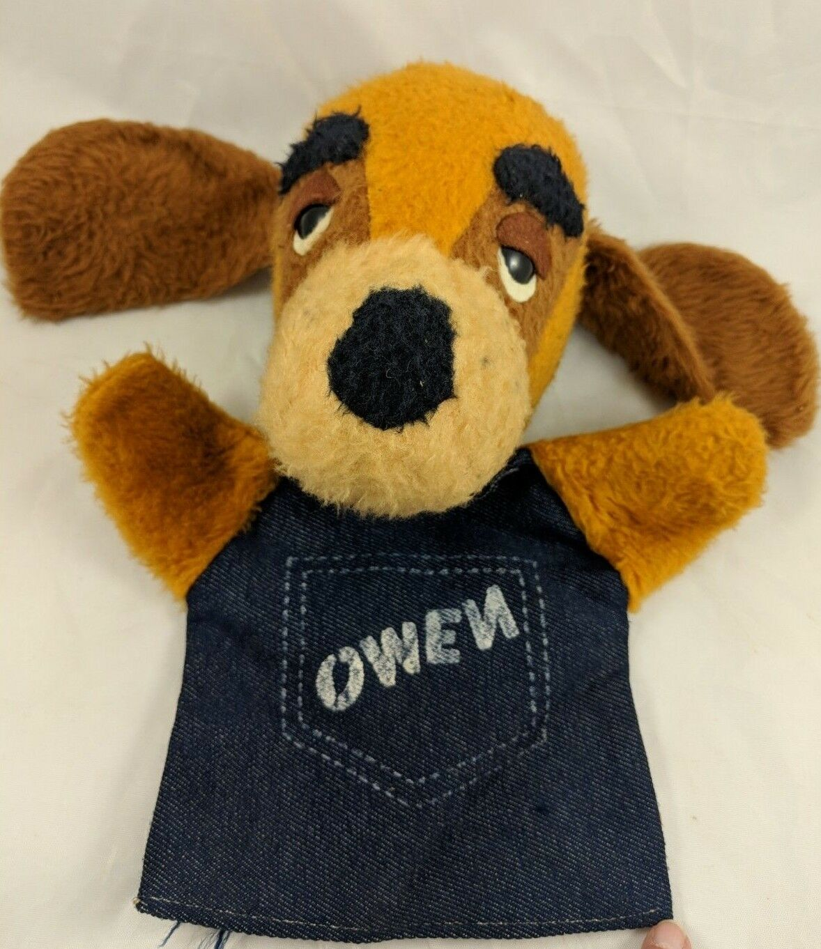 Owen Dog Plush Hand Puppet Puppy Hound 10