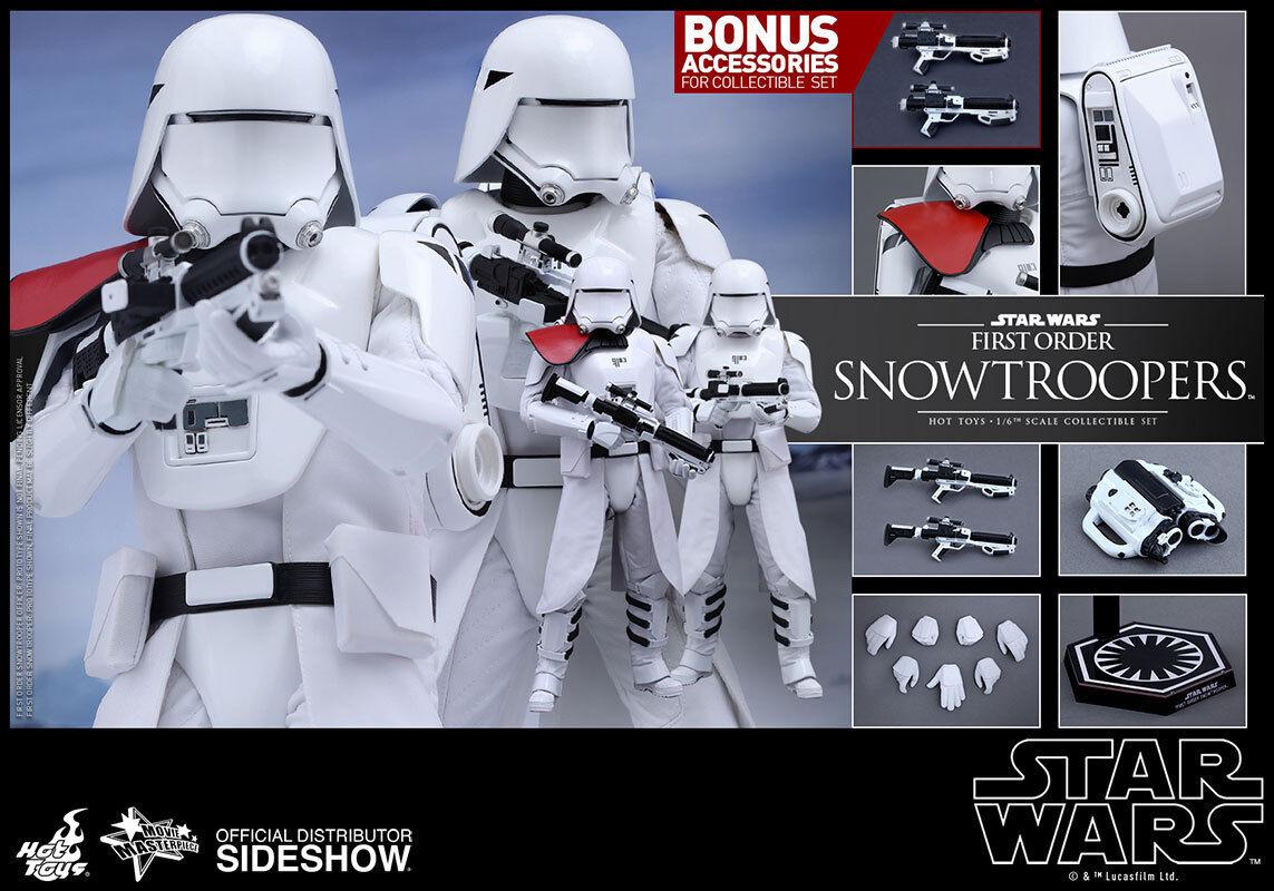 Hot juguetes STAR WARS-Conjunto de primer orden Snowtroopers escala 16th figura MMS322