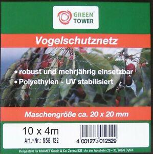 Obstbaum Vogel-Schutz-Netz 10 x 4 m Vogelnetz Kirsch-baumnetz Kirschnetz Plaumen