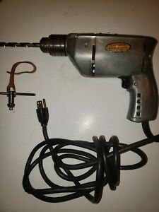 Vintage-3-8-034-Industrial-Craftsman-Electric-Drill-With-Chuck