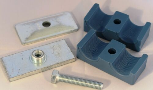 Hydraulic Pipe Clamp Stauff Style Double 6 mm to 35 mm Solid Body