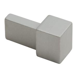 Genesis Tile Trim Matt Silver Square Edge Metal Corners EDP 2 Pack