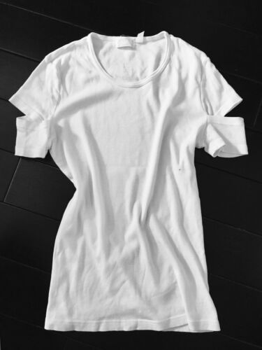 Vintage Helmut Lang Italy Vintage 1998 90's White Women's Tshirt S Rare by Helmut Lang