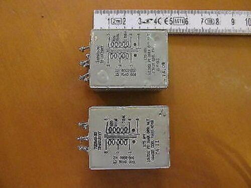 TF4SX21YY AUDIO TRANSFORMER 600 TO 600 OHM 300 TO 3500HZ USED 2 PCS