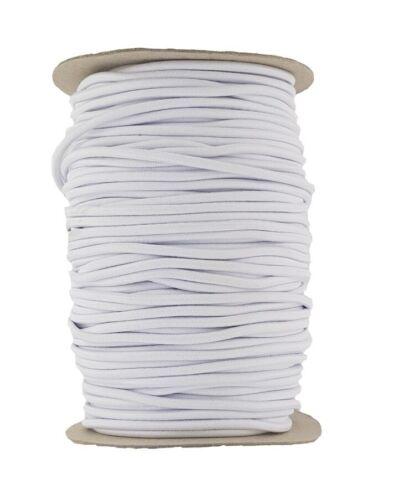 Cordon élastique 4 mm round vendus dans des longueurs de 2,3,4,5 mètres blanc