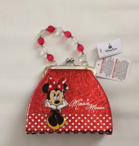 BNWT Disney Parks Minnie Mouse Kids Purse Red Polka Dot
